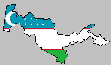 About Uzbekistan - Uzbekistan map png